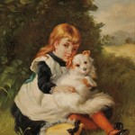 N. Henry Bingham (American, b. 1939) Girl with a Dog. (Lot   1308, Estimate $400-$600)