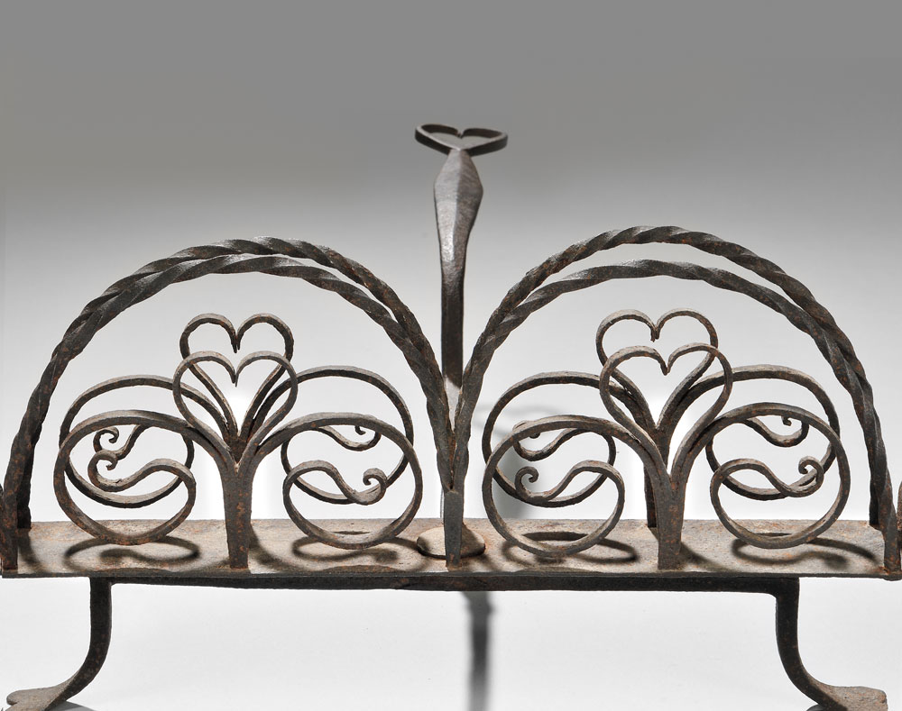 Wrought Iron Rotary Toaster, America, late 18th/early 19th century (Lot 37, Estimate $2,500-$3,500)
