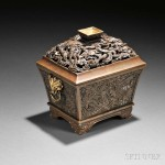 Bronze Covered Censer with Dragons, China, late Ming dynasty (Lot 60, Estimate $8,000-$10,000)