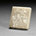 Reticulated Nephrite Jade Box, China, 18th/19th century (Lot 80, Estimate $1,500-$1,800)