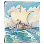 Arts & Crafts Painted Enamel Plaque, Frank Gardner Hale (Lot 214, Estimate $600-$800)