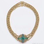Arts & Crafts 18kt Gold, Tourmaline, and Sapphire Necklace, Tiffany & Co. (Lot 467, Estimate $40,000-$50,000)
