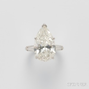 Platinum and Diamond Solitaire (Lot 590, Estimate $70,000-$90,000)