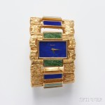 18kt Gold and Hardstone Cuff Watch, Piaget (Lot 613, Estimate $8,000-$10,000)