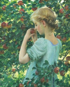 Charles Courtney Curran (American, 1861-1942), Apple Perfume (Lot 558, Estimate $50,000-$70,000)