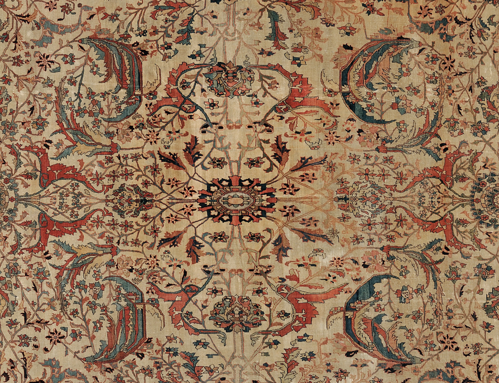 [Detail] Antique Fereghan Sarouk Carpet, West Persia, third quarter 19th century (Lot 132, Estimate $20,000-$25,000)