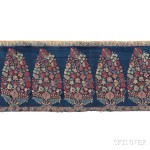 [Detail] Mughal Shawl End Panel, Kashmir, 18th century (Lot 119, Estimate $2,000-$3,000)