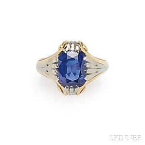 Lot 662 – Art Deco Sapphire Ring, Tiffany & Co. – Estimate: $20,000 – $30,000