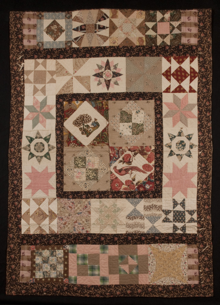 Quilt. Charlestown, Massachusetts, 1837-38, cotton, muslin. Photograph by David Bohl