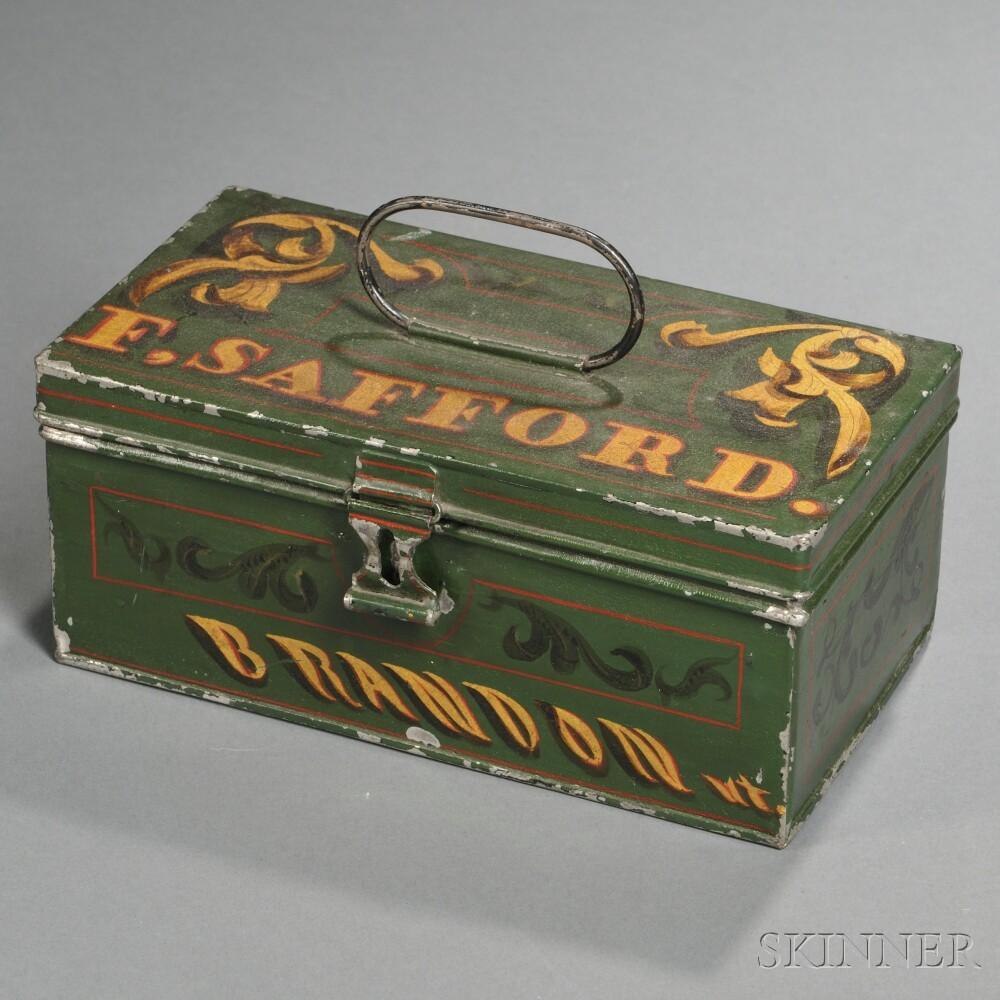 Tin Mailbox: Skinner Auctioneers