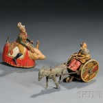 Two Lehmann Circus-themed Wind-up Tin Toys, Germany, early 20th century   (Lot 1120, Estimate $400-$600)