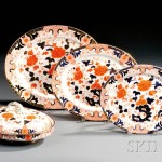 Thirty-eight-piece Assembled Set of Imari Palette Crown Derby Tableware,   19th/20th century (Lot 1484, Estimate $400-$600)