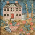 Needlework Picture Showing a House with Woman, Sarah Pomeroy, Northampton, Massachusetts, c. 1762 (Lot 127, Estimate $15,000-$25,000)