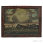 Thomas Chambers (New York, England, 1808-1869) New York Harbor (Lot 212, Estimate $12,000-$18,000)