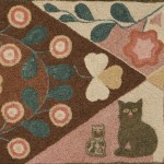 Wool and Yarn on Linen Sewn Rug, America, early 19th century (Lot 378, Estimate $8,000-$12,000)