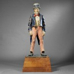 Polychrome Papier-mache Uncle Sam, America, early 20th century (Lot 506, Estimate  $4,000-$6,000)