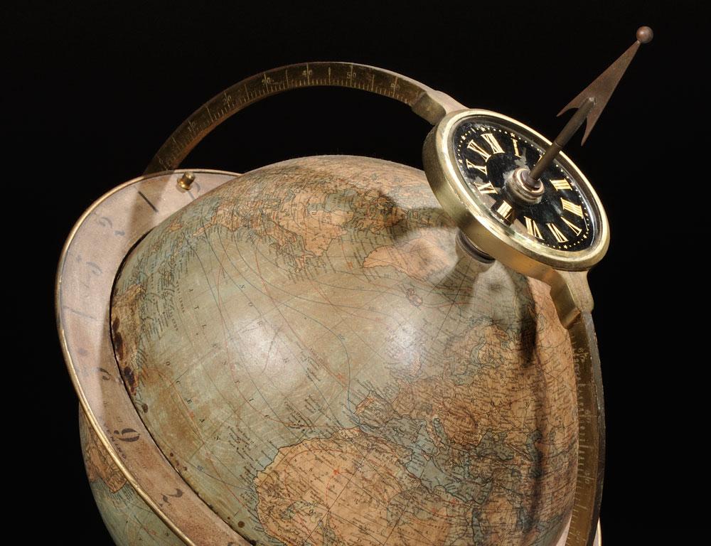 [Detail] Juvet & Company Time Globe, Canajoharie, New York, c. 1880 (Estimate $4,000-$6,000)