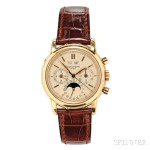 Gentleman's 18kt Gold Perpetual Calendar Chronograph Wristwatch (Lot 445, Estimate $65,000-$80,000)