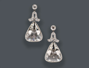 Fine Pair of Edwardian Platinum and Diamond Earpendants, Cartier, New York (Lot 744, Estimate $100,000-$150,000)
