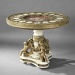 Napoleon III Sevres-style Porcelain- and Bronze-mounted Center Table (Lot 319, Estimate $8,000-$12,000)