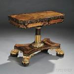 George IV Rosewood- and Calamander-veneered Games Table, c. 1820 (Lot 348, Estimate $3,000-$5,000)