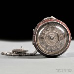 Silver Pair-cased Verge Pocket Watch, London, c. 1700 (Lot 350, Estimate $2,500-$3,500)