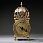 Thomas Swinnerton Lantern Clock, Newcastle-under-Lyme, England, c. 1690 (Lot 406, Estimate $2,000-$4,000)