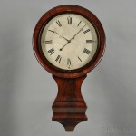 J.N. Dunning Mahogany Gallery Clock, Burlington, Vermont, c. 1835 (Lot 458, Estimate $10,000-$15,000)