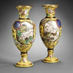 Pair of Aesthetic-style Yellow Ground  Porcelain Palace Vases, England/France, 19th century (Lot 476, Estimate $10,000-$15,000)