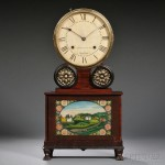"Joseph Ives Lever-spring ""Brooklyn"" Shelf Clock, Brooklyn, New York, c. 1825-30 (Lot 510, Estimate $8,000-$12,000)"