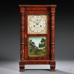 Curtis & Clark Miniature Salem Bridge Shelf Clock, Plymouth, Connecticut, c. 1825 (Lot 513, Estimate $4,000-$6,000)