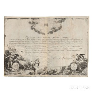 Washington, George (1732-1799) Printed Document on Parchment Signed, 1797. (Lot 103, Estimate $6,000-$8,000)