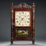 Mahogany Seth Thomas Transitional Shelf Clock, Plymouth, Connecticut, c. 1835 (Lot 1244, Estimate $500-$700)