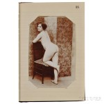 Erotica, Engravings, Tinted Prints, and Photographs, Two Albums. (Lot 219, Estimate $800-$1,200)