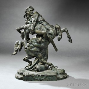 After Albert Ernest Carrier Belluse (French, 1824-1887)   L'enlevement D'hippodame (The Rape of Hippodamia) (Lot 246)