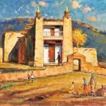Wayne Beam Morrell (American, 1923-2013), Taos Mission Pueblo (Lot 1121, Estimate $700-$900)