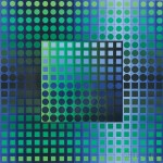 Victor Vasarely (French/Hungarian, 1906-1997), Abstract Geometric Composition (Lot 1188, Estimate $300-$500)