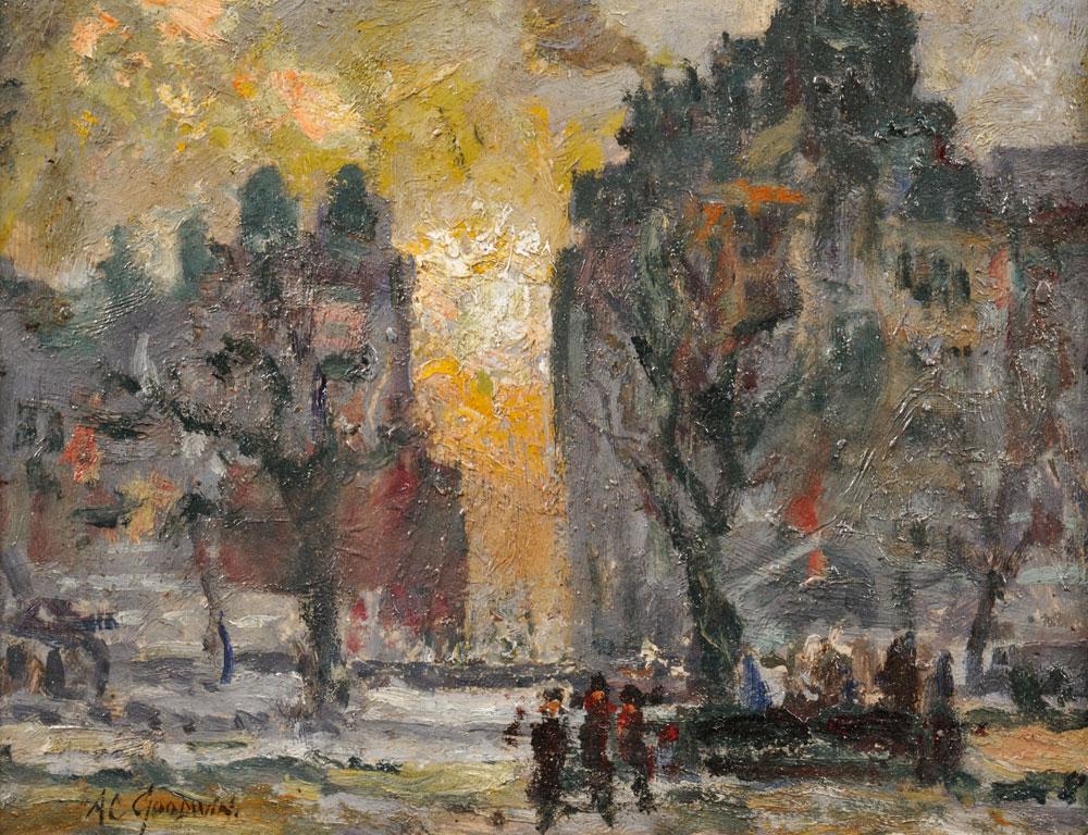 Arthur Clifton Goodwin (American, 1866-1929), City View at Dusk (Lot 1013, Estimate $1,000-$1,500)