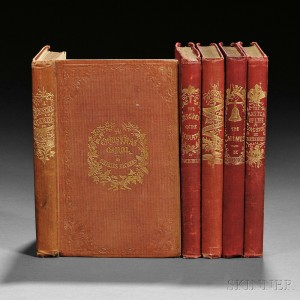 Dickens, Charles (1812-1870) The Christmas Books, Including a Signed Copy of A Christmas Carol (Lot 203, Estimate $20,000-$30,000)