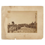 Russell, Andrew J. (1829-1902) Albumen Photograph, Golden Spike Ceremony, Promontory Point, Utah, 1869. (Lot 470, Estimate $15,000-$17,000)