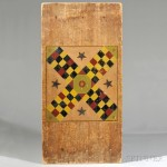 Painted Pine Parcheesi Game Board, America, 19th century (Lot 504, Estimate $300-$500)