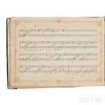 Liszt, Franz (1811-1886) Autograph Music, Signed. Circa 1880. (Lot 59, Estimate $15,000-$20,000)