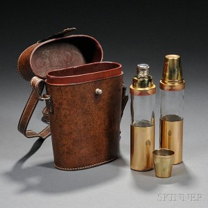 Gucci Cased Twin Flasks, Italy, mid-20th century (Lot 63, Estimate $600-$900)