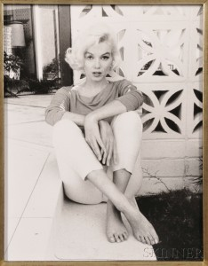George Barris (American, b. 1922), Marilyn Monroe, Hollywood Hills, July 1962 (Lot 23, Estimate $800-$1,200)