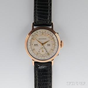 Movado, Vintage Gentleman's Triple Complication Calendar Wristwatch (Lot 17, Estimate $400-$600)