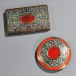 Two Austrian Sterling Silver and Enamel Compacts (Lot 1073, Estimate $400-$600)