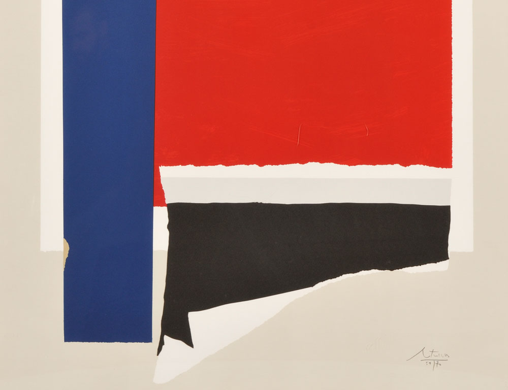 Robert Motherwell (American, 1915-1991) [Detail] On The Wing, 1984 (Lot 88, Estimate $5,000-$7,000)