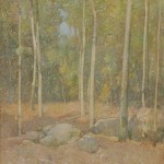Emil Carlsen (American, 1853-1932) Early October, alternately titled Wood Interior (Lot 420, Estimate $15,000-$25,000)