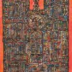 Rene Portocarrero (Cuban, 1912-1986) Catedral (Lot 484, Estimate $8,000-$12,000)