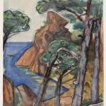 Otto Dix (German, 1891-1969) Coastal Cliffs, possibly La Ciotat, France (Lot 566, Estimate $15,000-$25,000)